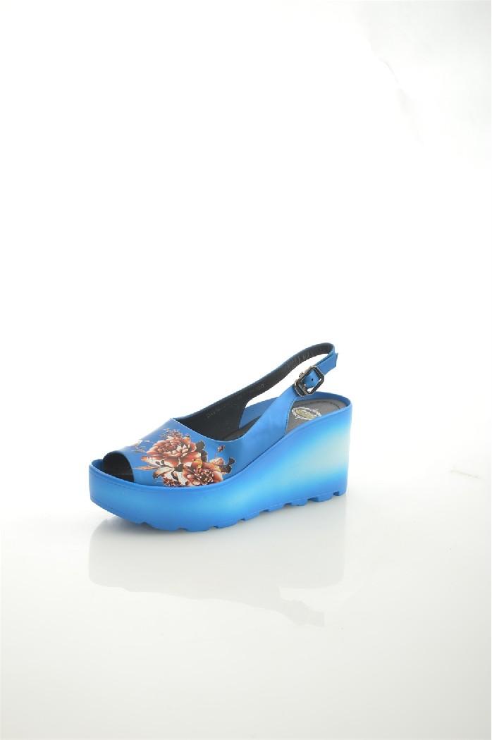 женские босоножки на каблуке avenir, синие
