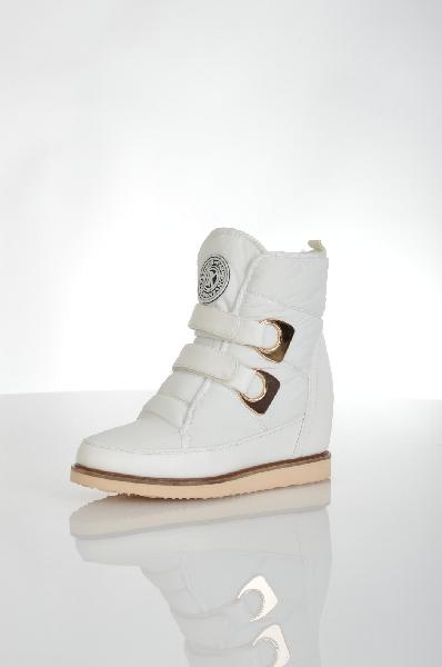 женские ботинки на каблуке cooper, белые