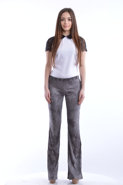 женские брюки just cavalli, серые