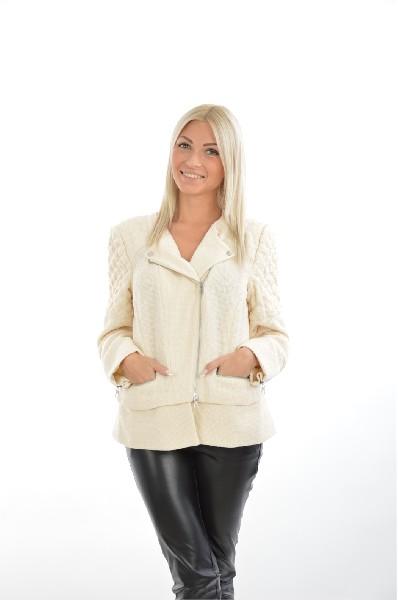 женская куртка madeleine, кремовая