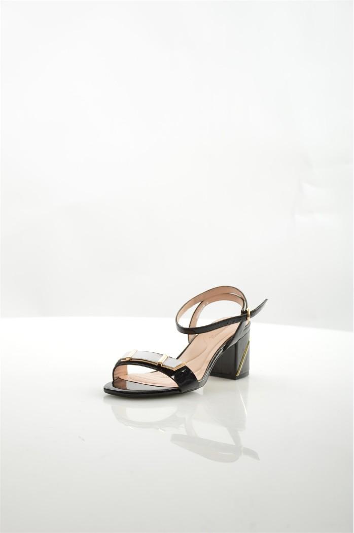 женские босоножки на каблуке renaissance, черные