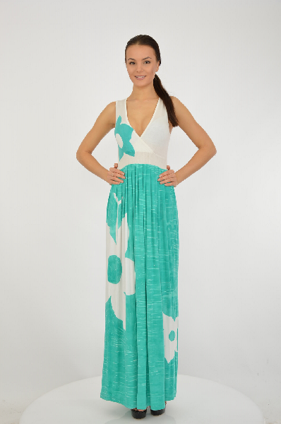 женское платье etincelle, зеленое