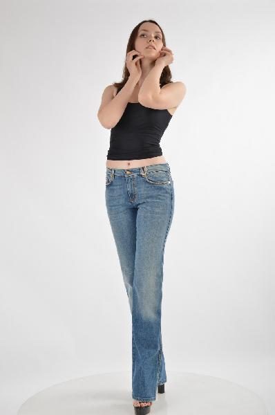 женские джинсы roberto cavalli, синие