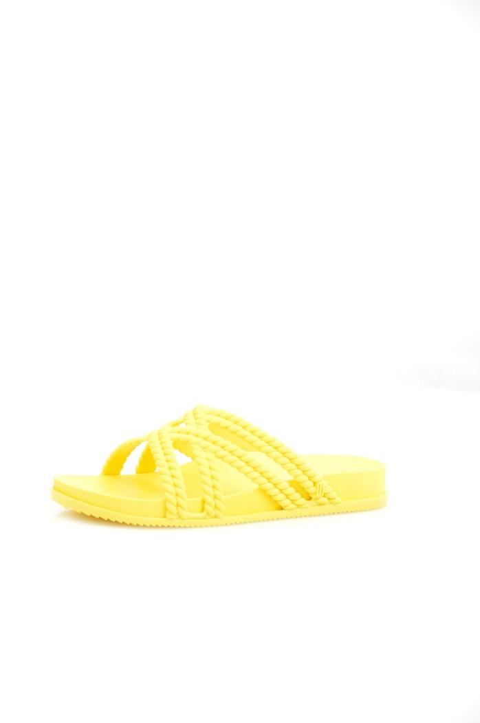 женские шлепанцы melissa, желтые
