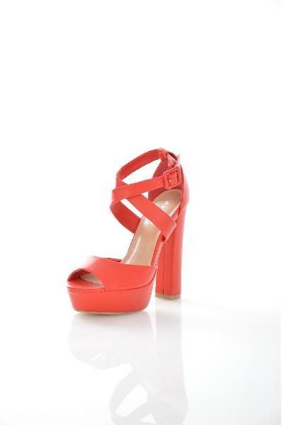женские босоножки на каблуке malien, красные