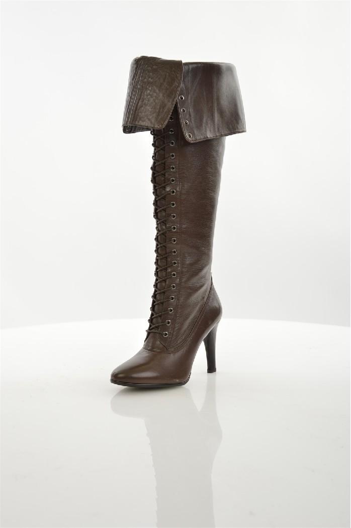 женские ботфорты alba, коричневые