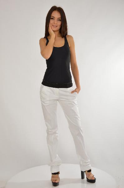 женские брюки moschino, белые
