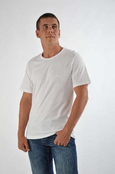 мужская футболка с круглым вырезом hugo boss, белая