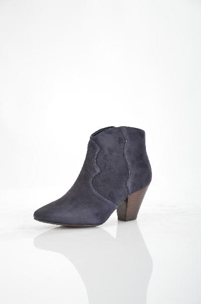 женские ботильоны на каблуке ash, синие