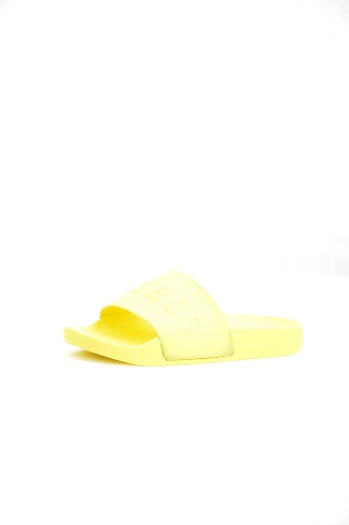 женские шлепанцы guess, желтые