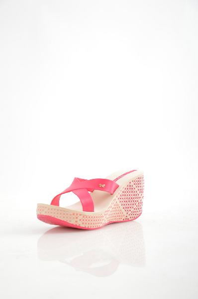женское сабо на каблуке ipanema, розовое