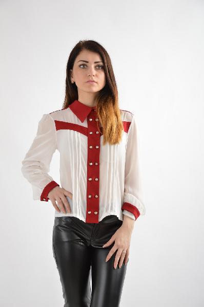 женская рубашка versace, белая