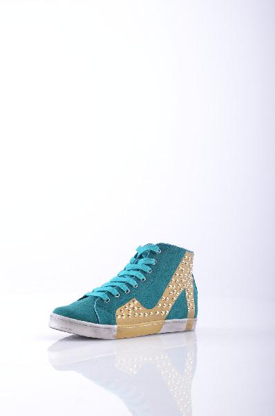 женские кеды на каблуке colors of california, зеленые