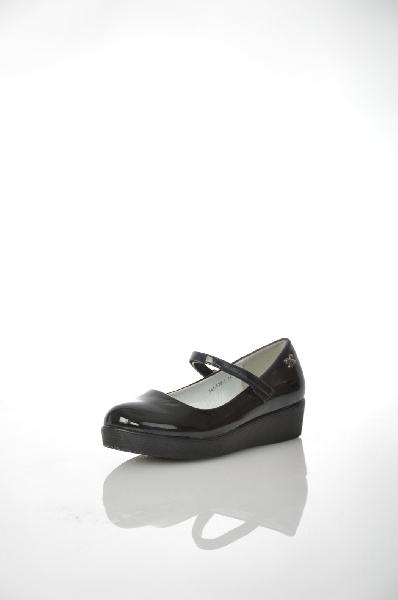 туфли на каблуке makfly для девочки, черные