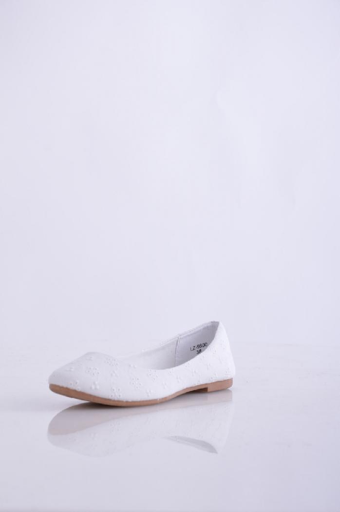женские балетки ideal, белые