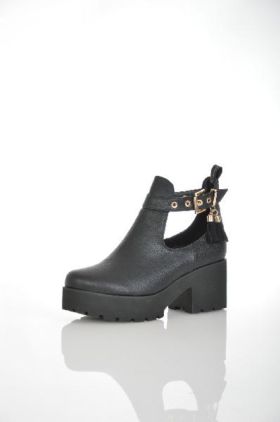 женские ботильоны на каблуке item black, черные