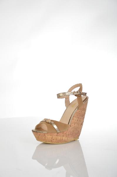 женские босоножки на каблуке winzor, бежевые