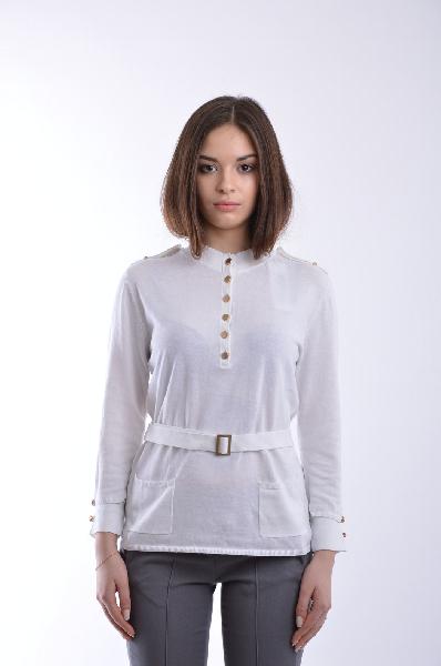 женский свитер stefanel, белый