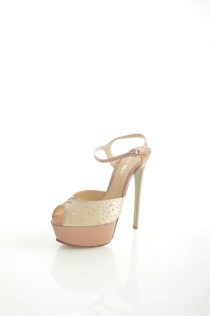 женские босоножки на каблуке nando muzi, бежевые