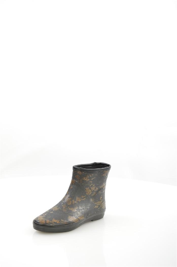 женские резиновые сапоги на каблуке nobbaro, черные