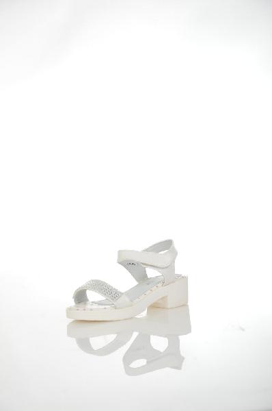 босоножки на каблуке makfly для девочки, белые