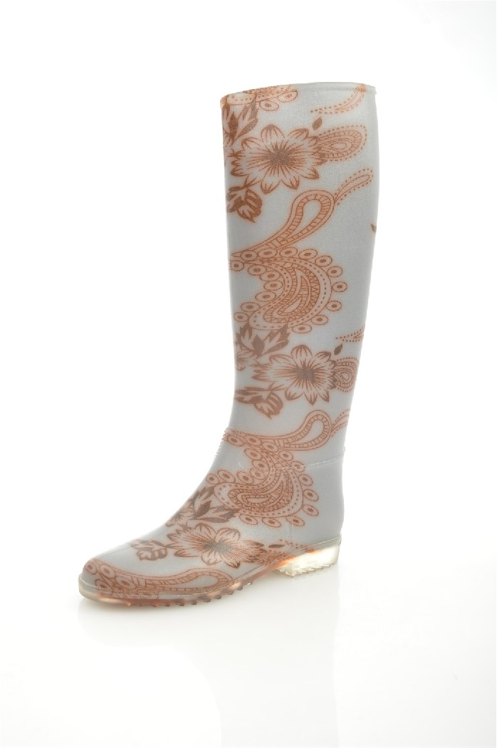 женские резиновые сапоги keddo, коричневые