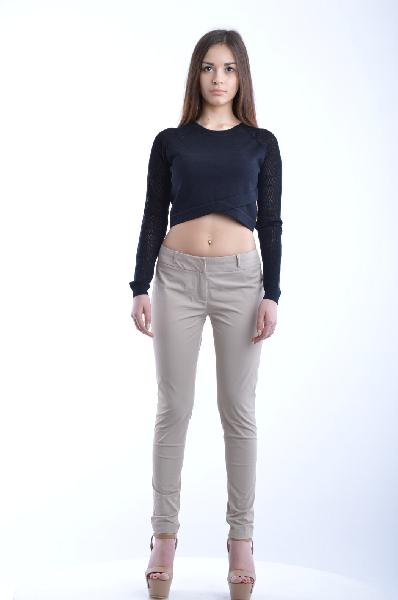 женские классические брюки guess by marciano, бежевые