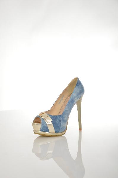 женские туфли на каблуке 1to3, голубые