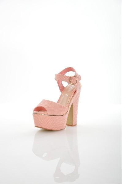женские босоножки на каблуке stephan, розовые