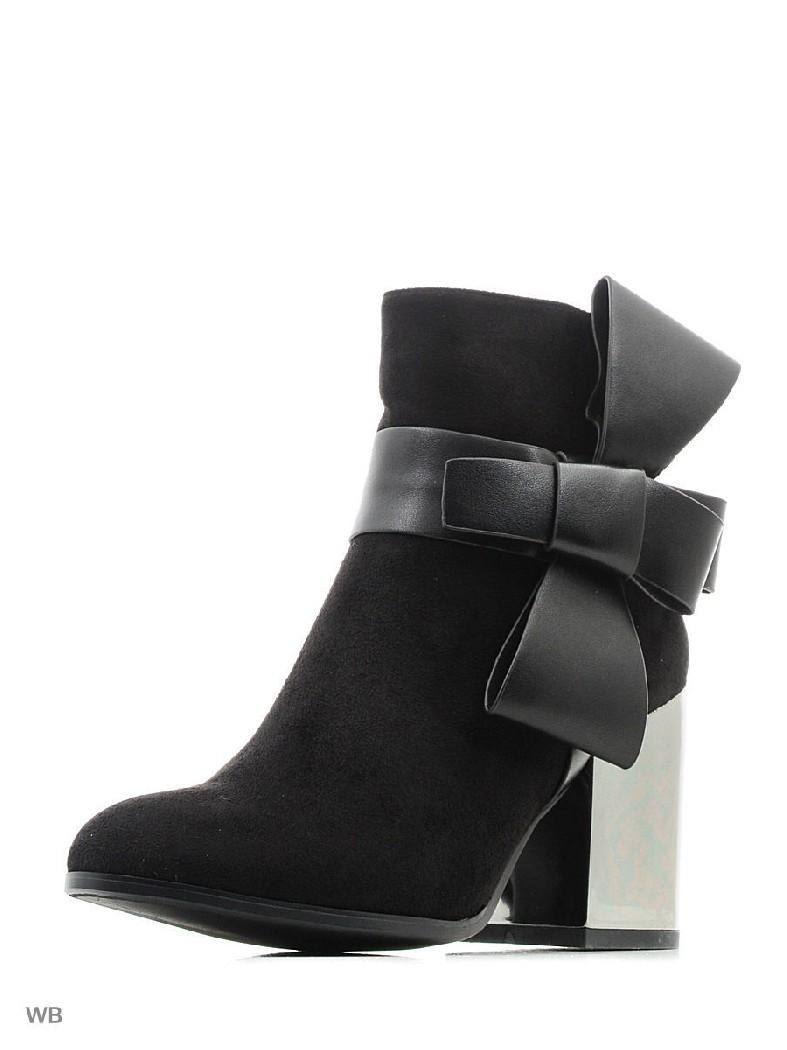 женские полусапожки на каблуке dino ricci, черные