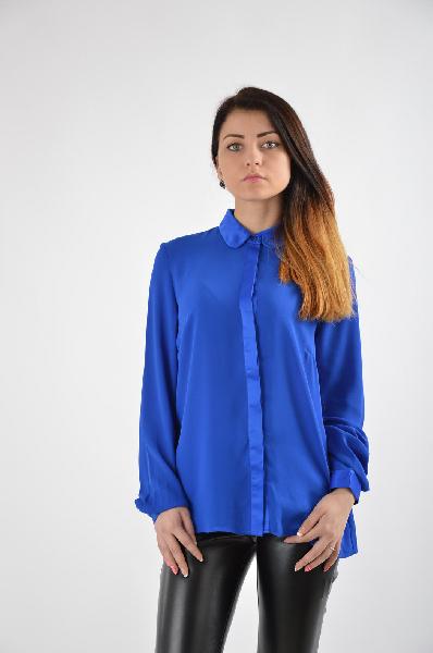 женская блузка bestia, синяя