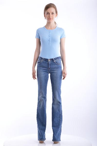 женские джинсы galliano, синие