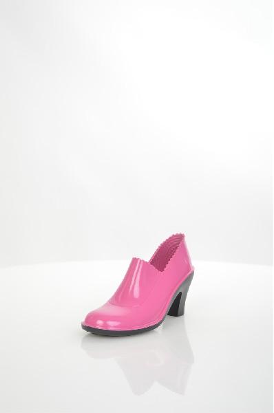 женские ботинки на каблуке sandra, розовые