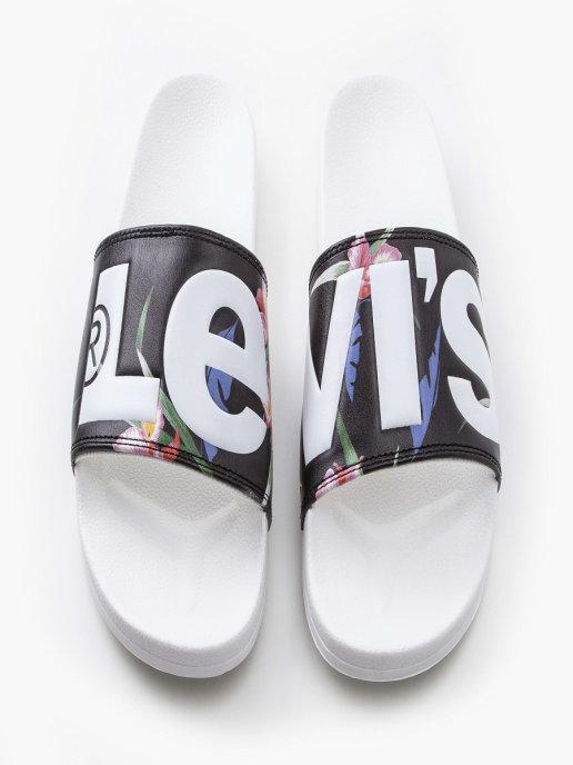 женские шлепанцы levi's®, белые