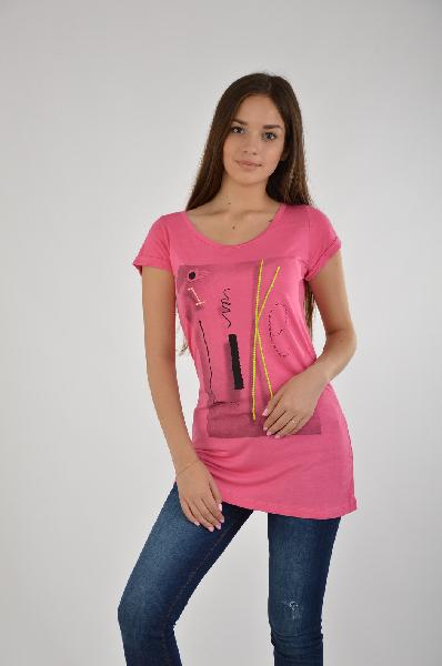 женская футболка gaudi, розовая