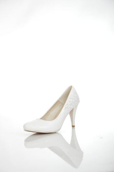 женские туфли на каблуке makfine, белые