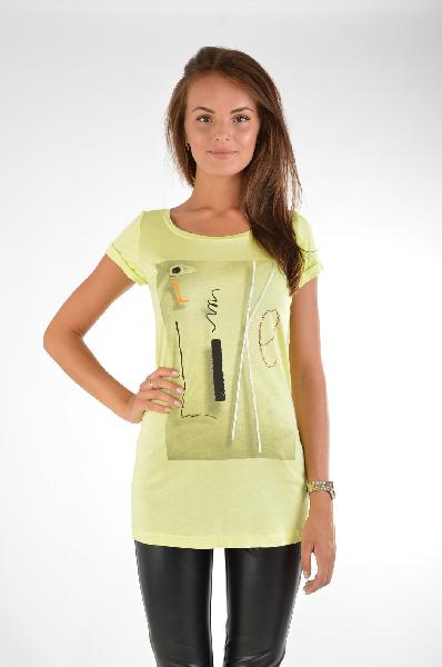 женская футболка gaudi, желтая
