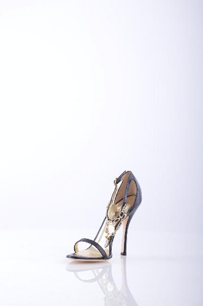 женские босоножки на каблуке dsquared2, черные