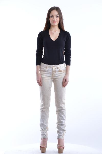 женские джинсы just cavalli, бежевые