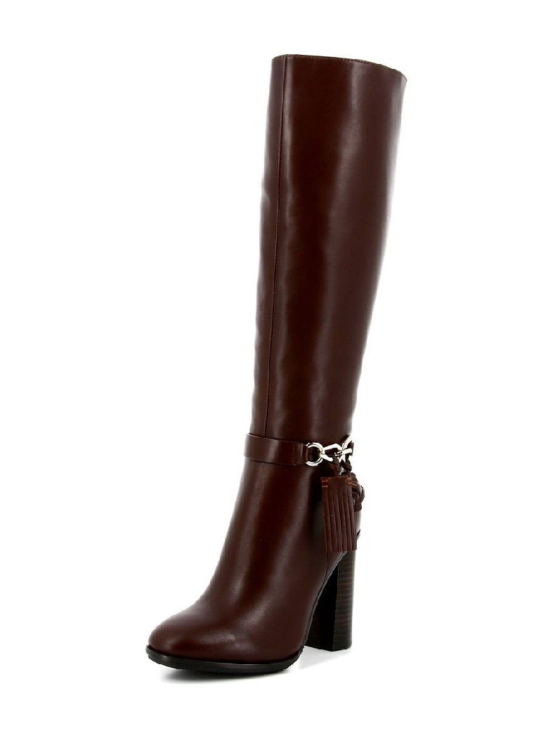 женские сапоги на каблуке paolo conte, коричневые