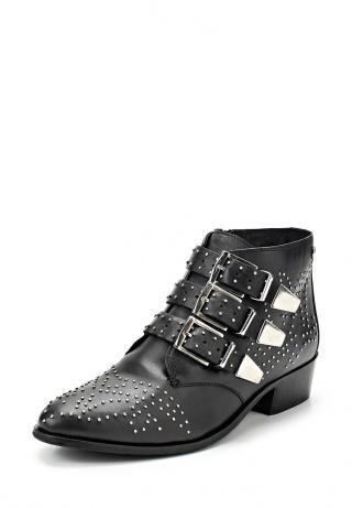 женские ботинки на каблуке blink, черные