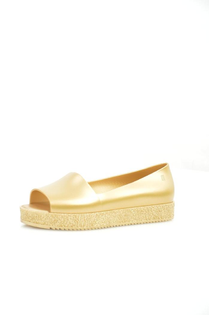 женские туфли на каблуке melissa, золотые
