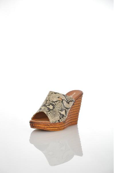 женское сабо на каблуке amazonga, бежевое