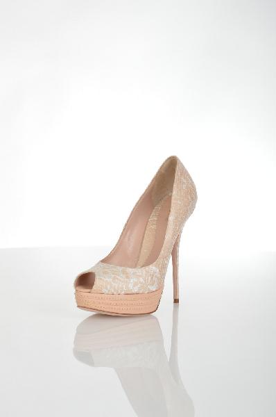 женские туфли на каблуке sebastian, бежевые