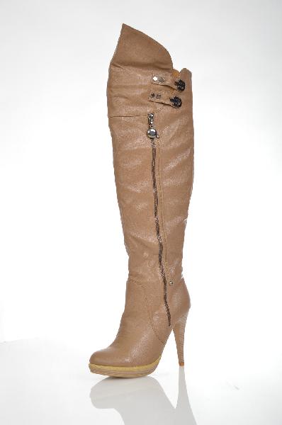 женские сапоги на каблуке ws shoes, коричневые
