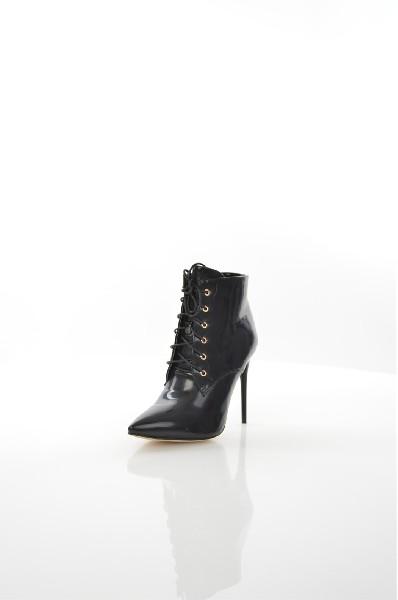 женские ботильоны на каблуке evita, черные