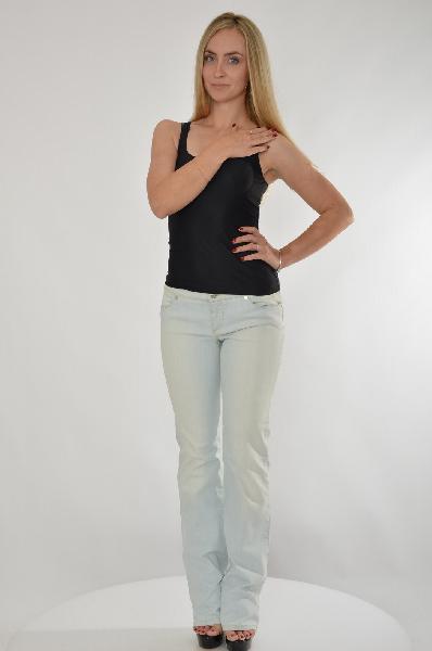 женские джинсы roberto cavalli, голубые
