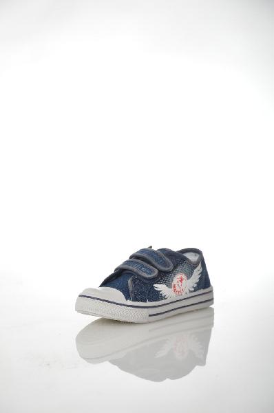 кеды на каблуке makfly для мальчика, синие