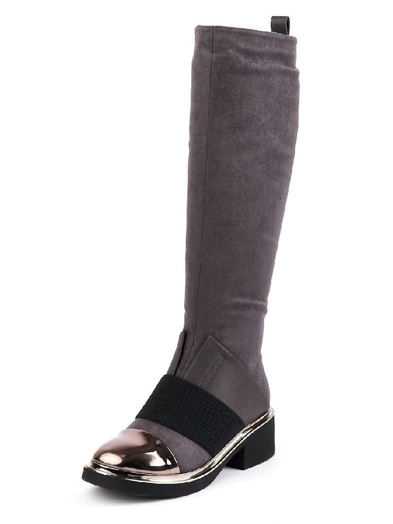женские сапоги на каблуке summergirl, серые