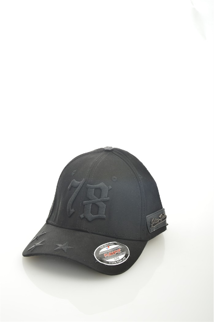 мужская бейсболка philipp plein, черная